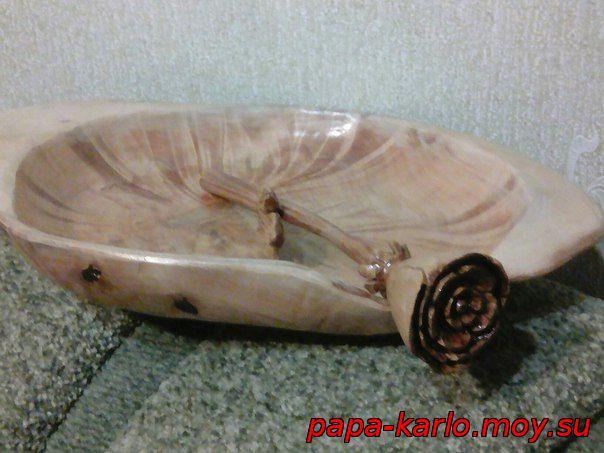 Роза из дерева сделанная своими руками